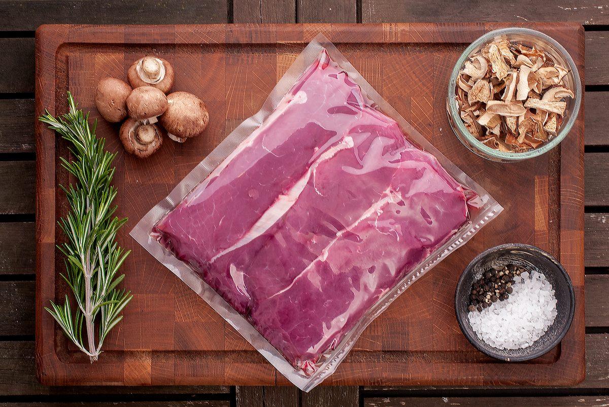 Steak s hříbkovou omáčkou Recept - Krok 1