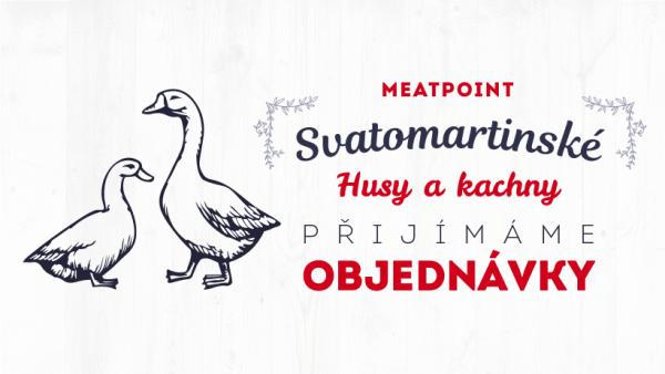 Přijímáme objednávky na svatomartinské husy a kachny!